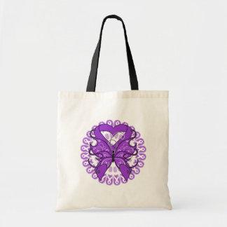 Círculo de la mariposa del Fibromyalgia de cintas Bolsas Lienzo