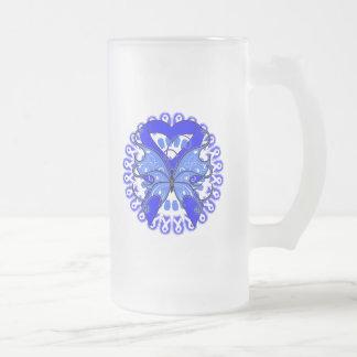Círculo de la mariposa del Histiocytosis de cintas Taza Cristal Mate