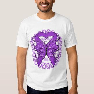 Círculo de la mariposa del lupus de cintas camisas