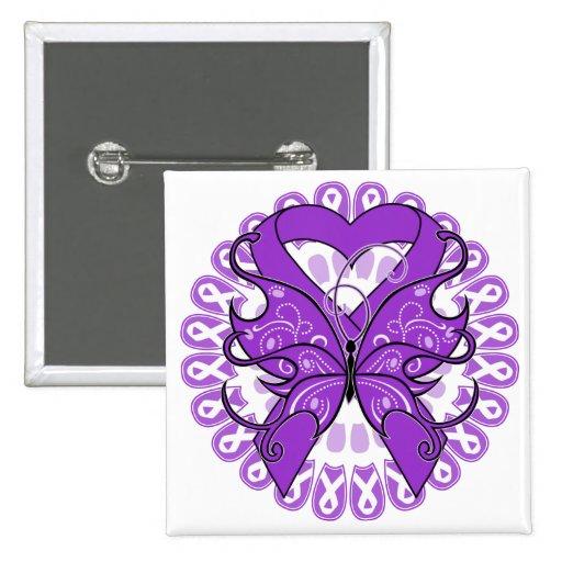 Círculo de la mariposa del lupus de cintas pins