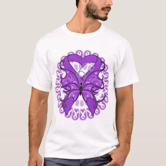 Círculo de la mariposa del lupus de cintas playera