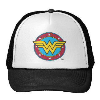 Círculo de la Mujer Maravilla el   y logotipo de Gorros Bordados