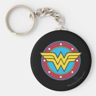 Círculo de la Mujer Maravilla el   y logotipo de Llavero Redondo Tipo Pin