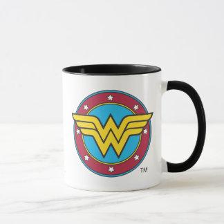 Círculo de la Mujer Maravilla el | y logotipo de Taza