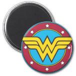 Círculo de la Mujer Maravilla y logotipo de las es Iman Para Frigorífico