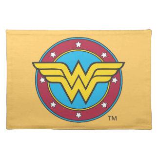 Círculo de la Mujer Maravilla y logotipo de las es Manteles