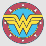 Círculo de la Mujer Maravilla y logotipo de las es Pegatinas Redondas
