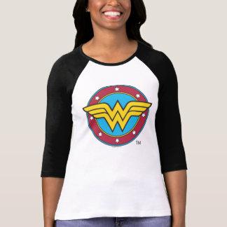 Círculo de la Mujer Maravilla y logotipo de las es Playera