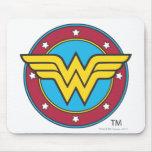 Círculo de la Mujer Maravilla y logotipo de las es Alfombrilla De Ratones