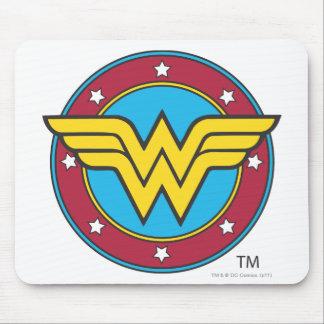 Círculo de la Mujer Maravilla y logotipo de las es Tapetes De Ratones