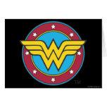 Círculo de la Mujer Maravilla y logotipo de las es Felicitacion