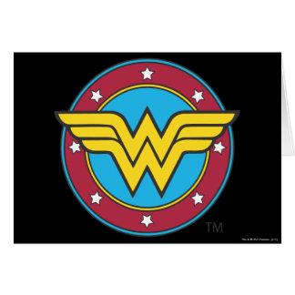 Círculo de la Mujer Maravilla y logotipo de las es Tarjeta De Felicitación