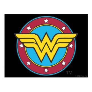 Círculo de la Mujer Maravilla y logotipo de las es Tarjetas Postales