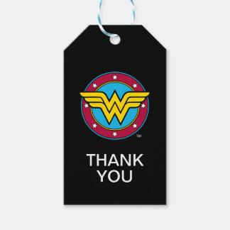 Círculo de la Mujer Maravilla y logotipo de las Etiquetas Para Regalos