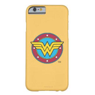 Círculo de la Mujer Maravilla y logotipo de las Funda De iPhone 6 Barely There