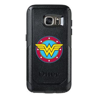 Círculo de la Mujer Maravilla y logotipo de las Funda Otterbox Para Samsung Galaxy S7