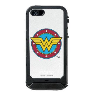 Círculo de la Mujer Maravilla y logotipo de las Carcasa De Iphone 5 Incipio Atlas Id
