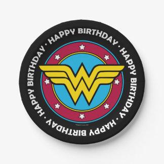 Círculo de la Mujer Maravilla y logotipo de las Platos De Papel