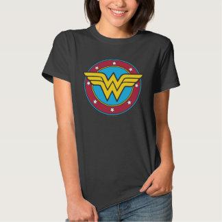 Círculo de la Mujer Maravilla y logotipo de las Playera