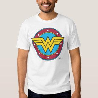 Círculo de la Mujer Maravilla y logotipo de las Polera