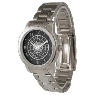 Círculo de la música del diseñador de los relojes