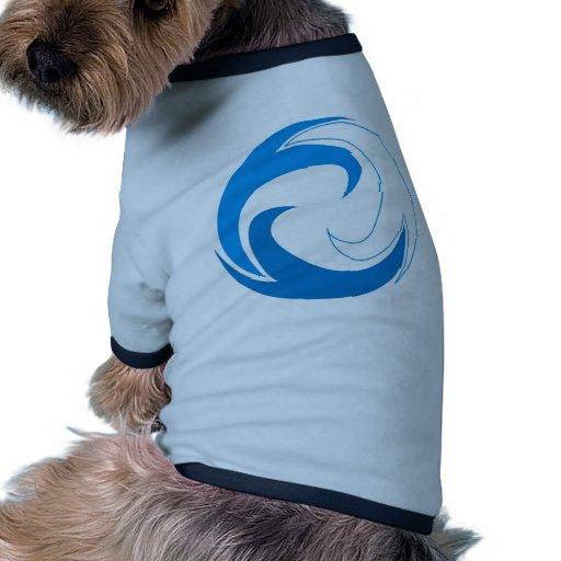Círculo de la onda ropa de mascota