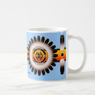 Círculo de la reflexión taza de café