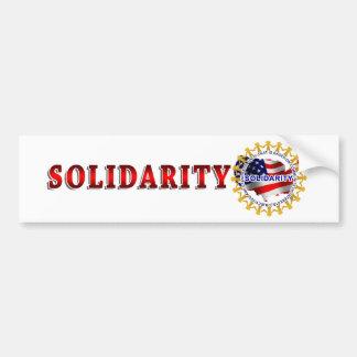 Círculo de la solidaridad pegatina para auto