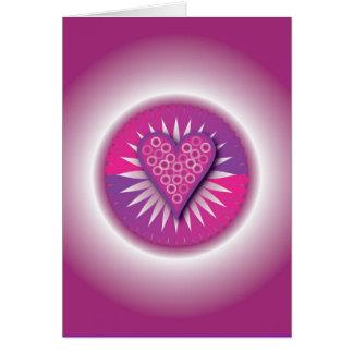 Círculo de la tarjeta de los corazones