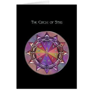 Círculo de la teoría de la música de la mandala de tarjeta de felicitación