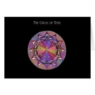 Círculo de la teoría de la música de la tarjeta de tarjeta de felicitación