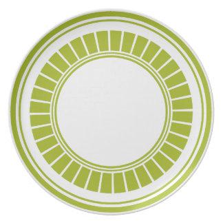Círculo de la verde lima de los bloques platos