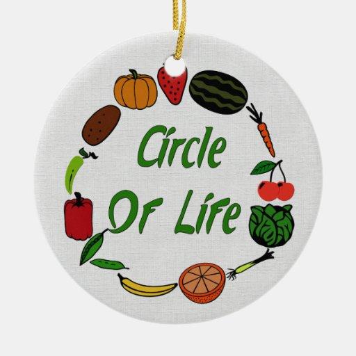 Círculo de la vida ornamentos para reyes magos