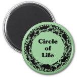 Círculo de la vida imán para frigorifico