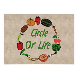 Círculo de la vida invitación 12,7 x 17,8 cm