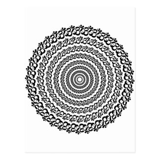 círculo de la yoga tarjeta postal