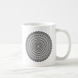 círculo de la yoga taza de café