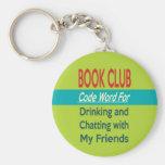 Círculo de lectores - cifre la palabra llavero personalizado