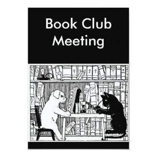 """Círculo de lectores del gato y del perro invitación 5"""" x 7"""""""
