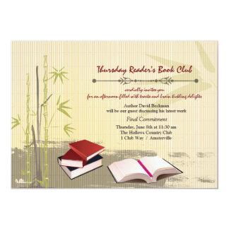 Círculo de lectores que recolecta la invitación