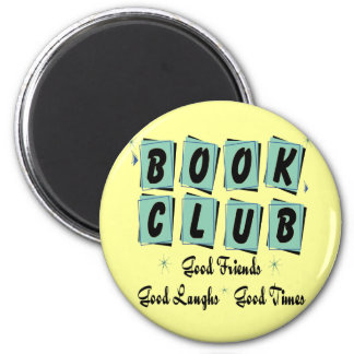 Círculo de lectores retro - buenos amigos, épocas  imán redondo 5 cm