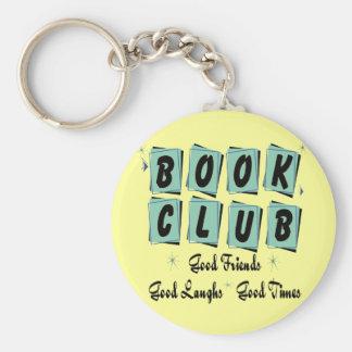 Círculo de lectores retro - buenos amigos, épocas  llavero redondo tipo pin