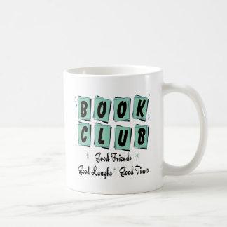 Círculo de lectores retro - buenos amigos, épocas  taza básica blanca
