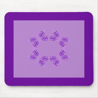 Círculo de libélulas, de la púrpura y del rosa tapete de ratón