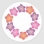 Círculo de Lillies Etiquetas Redondas