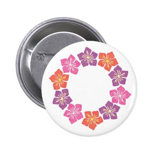 Círculo de Lillies Pin Redondo De 2 Pulgadas