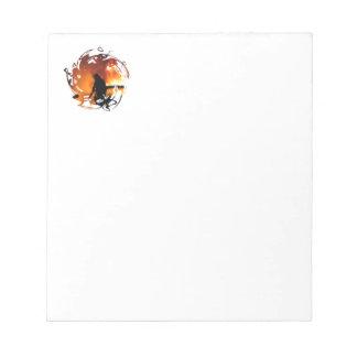 Círculo de llamas bloc de papel