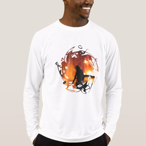 Círculo de llamas camisetas
