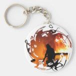 Círculo de llamas llaveros personalizados