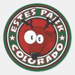 Círculo de los alces del parque de Estes Pegatinas Redondas